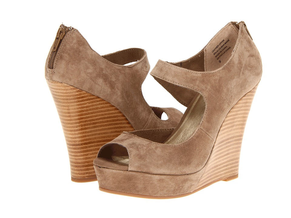 Seychelles - Down To The Wire (Taupe Suede) Women's Wedge Shoes