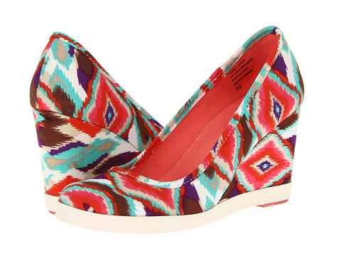 Seychelles - Alright With Me (Coral Print) Women's Wedge Shoes