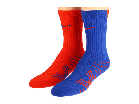 Nike - Performance Football Crew 2-Pair Pack (Game Royal/(Team Orange)/Team Orange/(Game Royal)) Crew Cut Socks Shoes