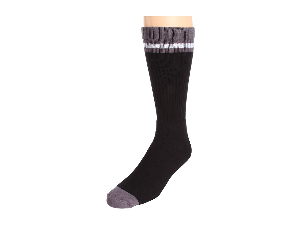 Nike - Sportswear Classic Striped Single Crew 1-Pair Pack (Black/Dark Grey/(White)) Men's Crew Cut Socks Shoes