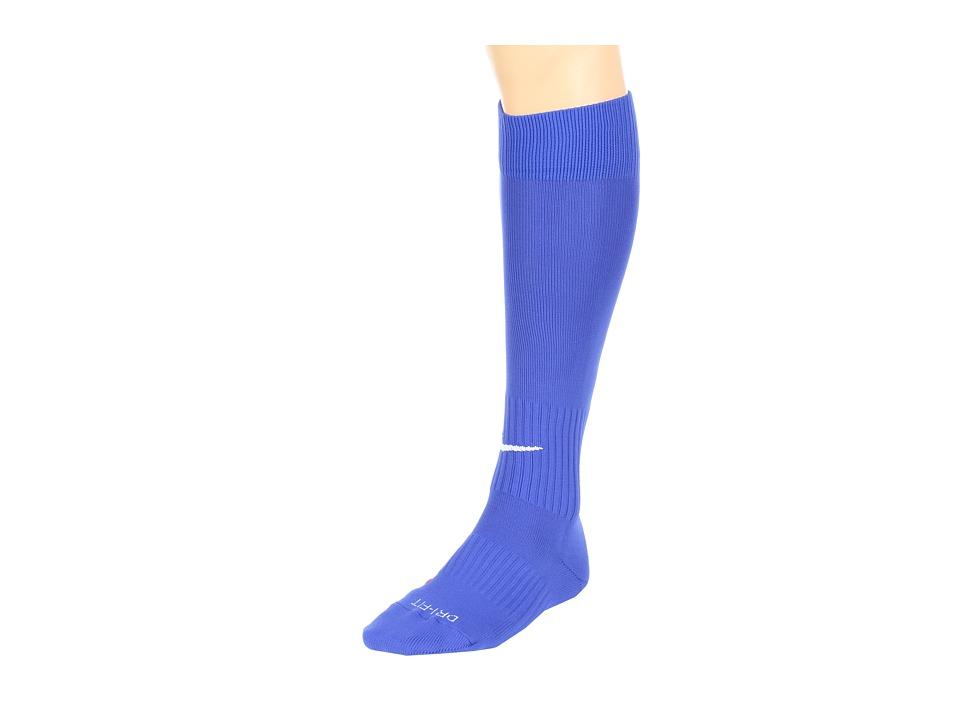Nike Nike Soccer Classic Sock (Varsity Royal/(White)) Knee High Socks Shoes