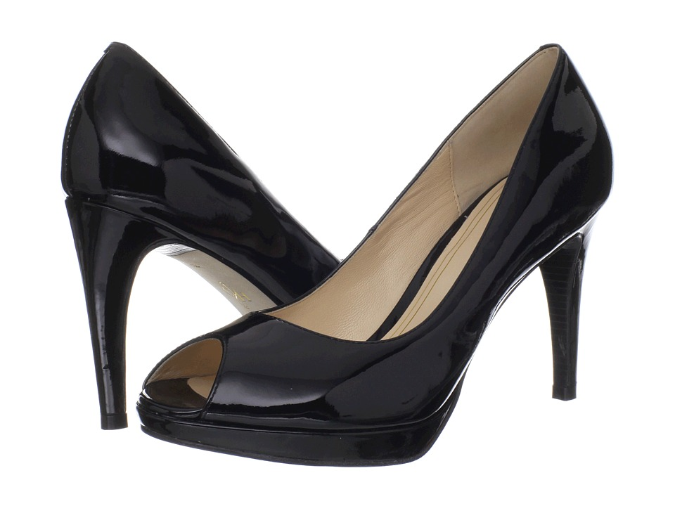 Cole Haan - Chelsea OT Pump (Black Patent) High Heels