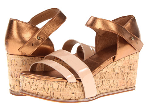 FIEL - Martin (Nude Patent/Bronze) Women's Wedge Shoes