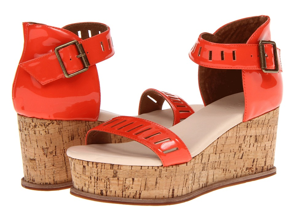 FIEL - Maud (Coral Patent) Women's Wedge Shoes