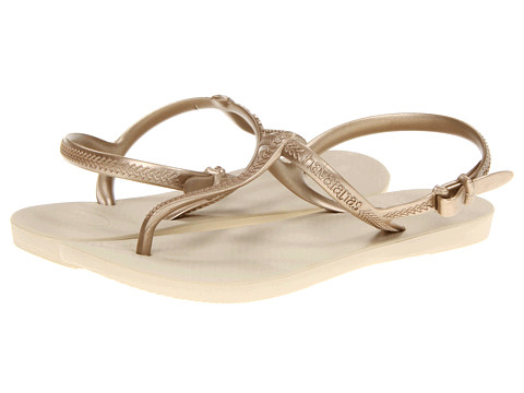 Havaianas - Freedom Flip Flops (Sand Grey/Light Golden) Women's Sandals