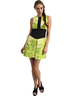 SALE! $224.99 - Save $270 on Tibi Sleeveless Dress (Lime Green Multi) Apparel - 54.55% OFF $495.00