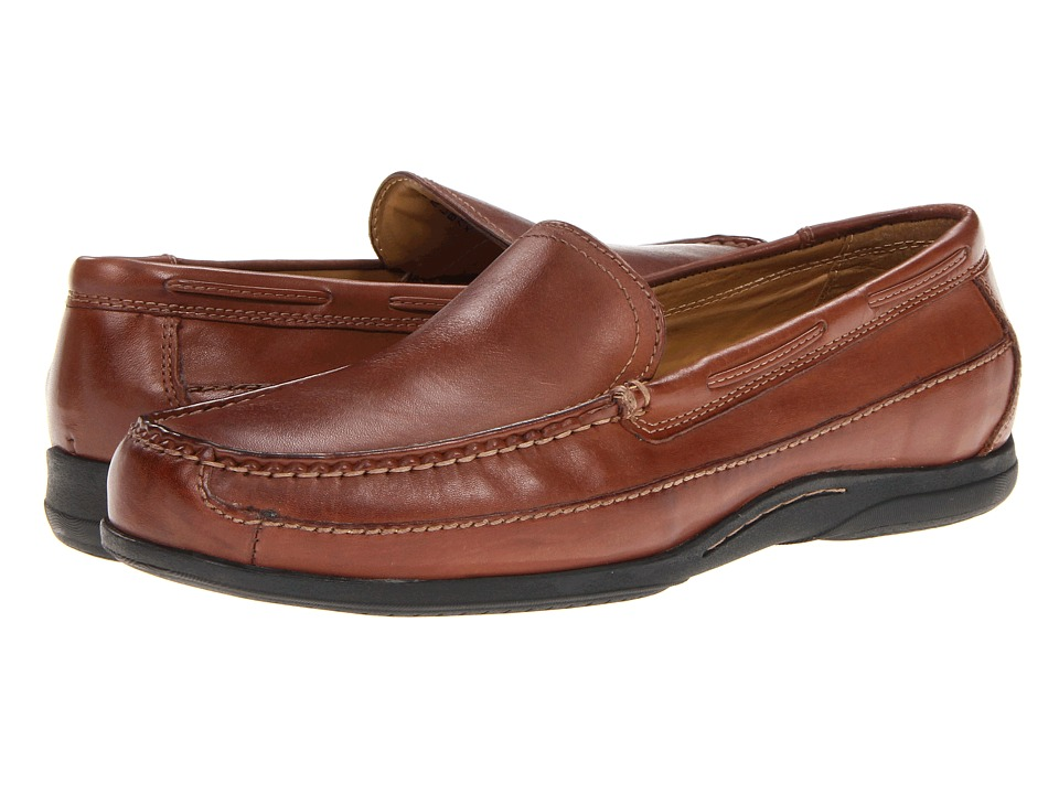 Dockers - Amalfi (Tan Burnished Full Grain) Men's Slip on Shoes