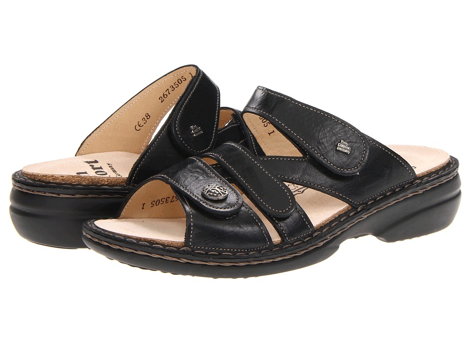 Finn Comfort - Soft Ventura - 82568 (Black) Women's Slide Shoes