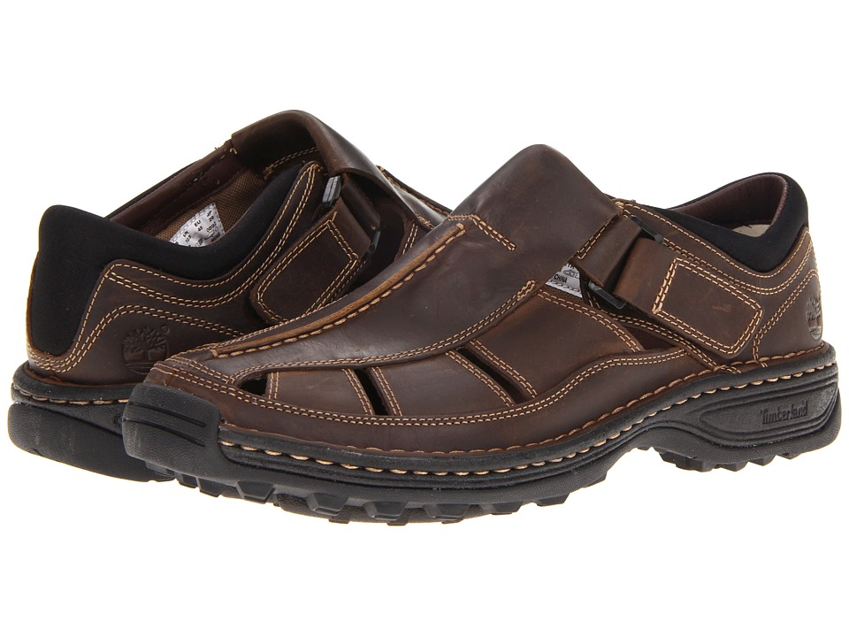 Timberland Altamont Closed Toe/Closed Back Fisherman (Brown Smooth) Men