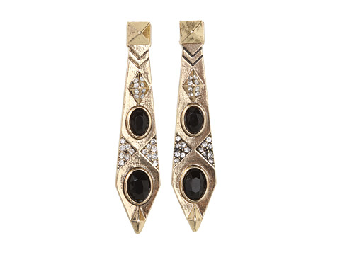 House of Harlow 1960 - Gypsy Feather Earrings (Yellow Gold) Earring