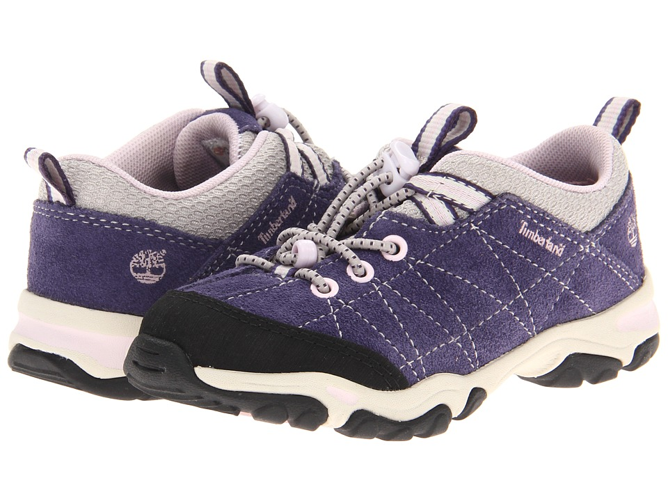 Timberland Kids - Earthkeepers Trail Force Bungee Oxford (Toddler/Little Kid) (Purple w/ Grey) Girls Shoes