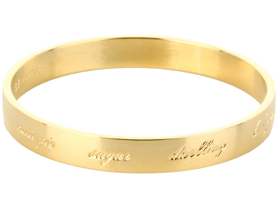 Kate Spade New York - Be Mine Idiom Bangle (Gold) Bracelet