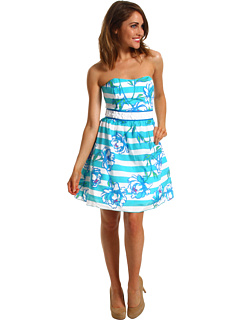 SALE! $141.99 - Save $116 on Lilly Pulitzer Langley Dress (Shorely Blue Tossing the Line) Apparel - 44.97% OFF $258.00
