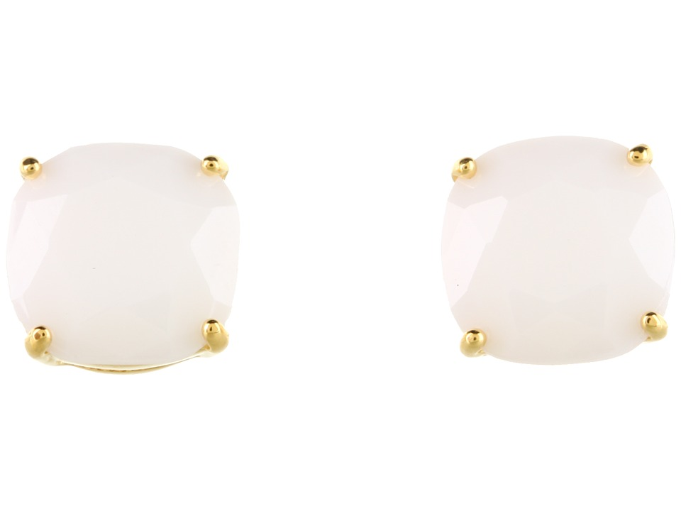 Kate Spade New York - Small Square Studs (White) Earring