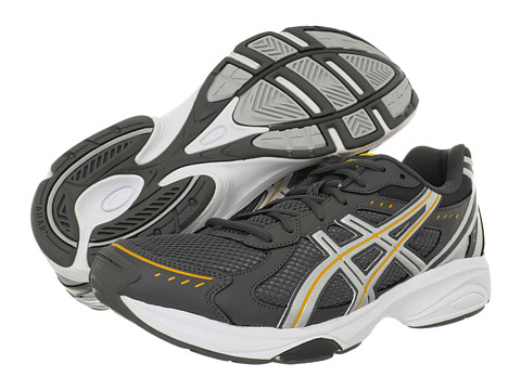 ASICS - GEL-Express 4 (Gunmetal/Safrom/Lightning) Men's Shoes