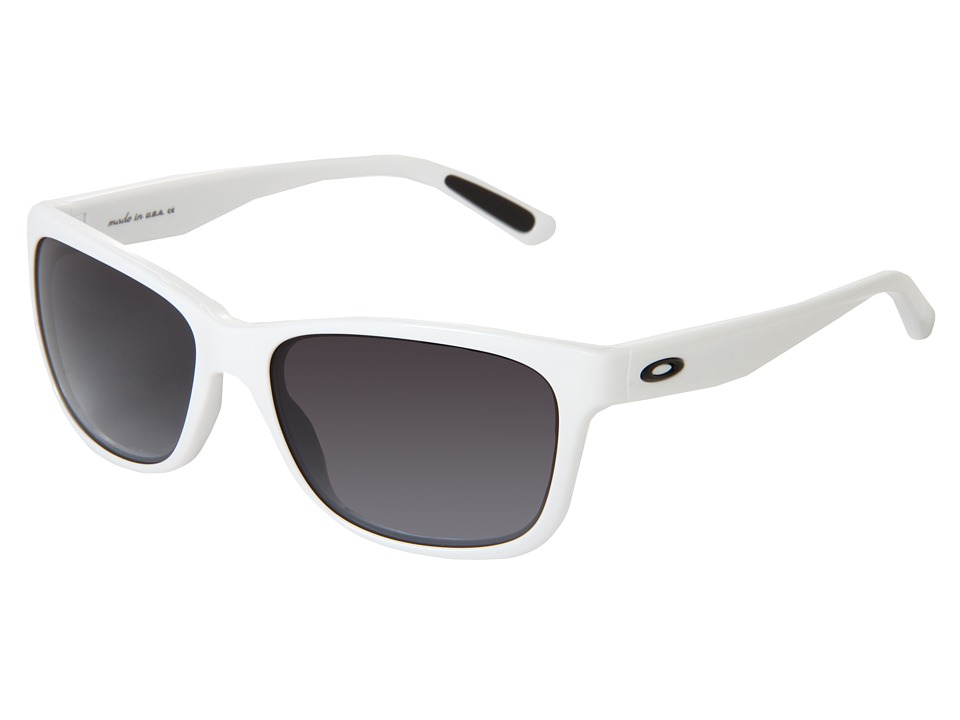Oakley - Forehand (White w/ Black Grey Gradient) Sport Sunglasses
