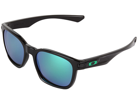 Oakley - Garage Rock (Black w/ Jade Iridium) Plastic Frame Sport Sunglasses