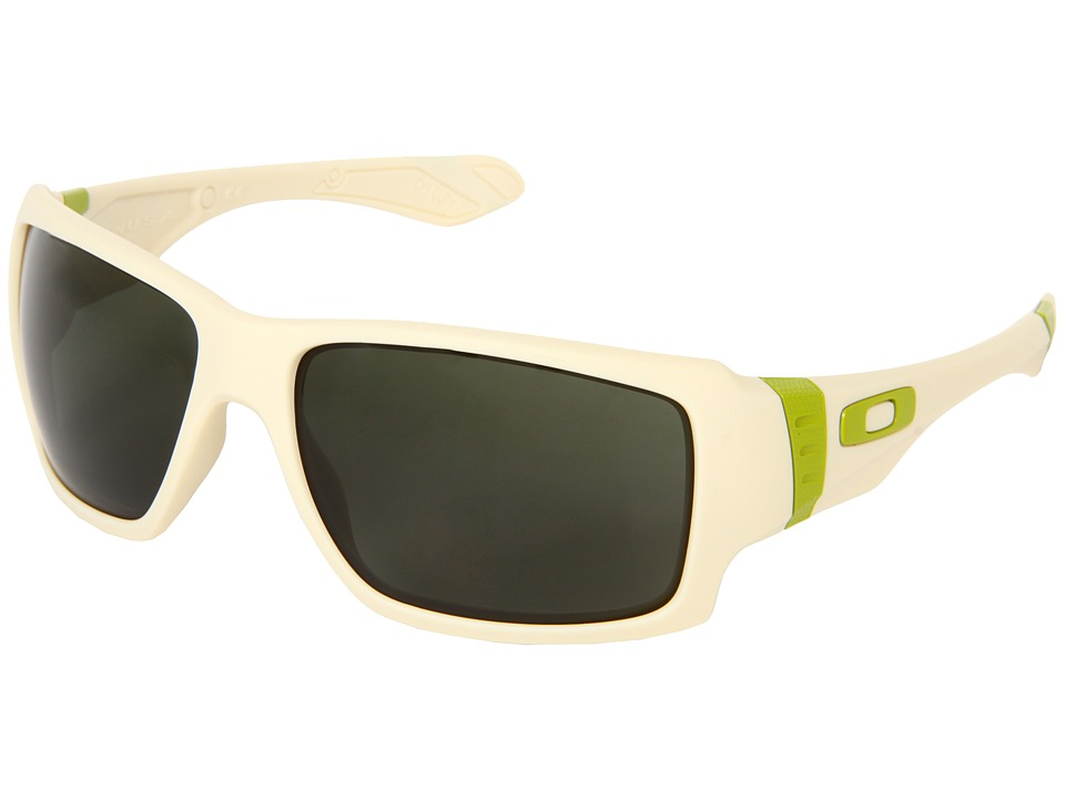 Oakley - Big Taco (White w/ Dark Grey) Sport Sunglasses