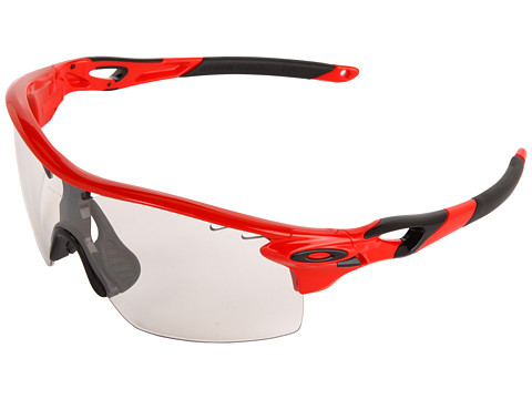Oakley - Radarlock XL Straight (Red w/ Clear Black Iridium Photocromic) Sport Sunglasses