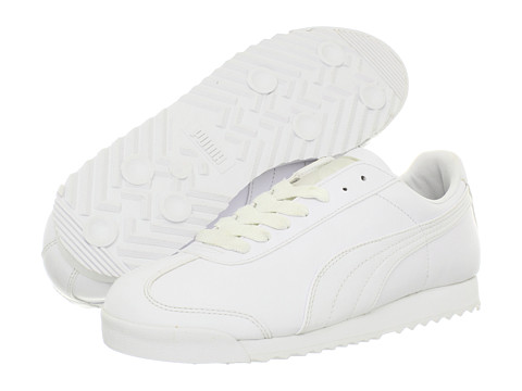 PUMA - Roma Basic (White/Light Grey) Men's Shoes