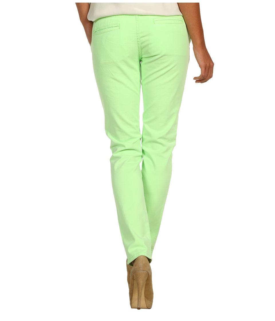 BCBGeneration - Johnny Destroyed Trouser Jean (Neon Green) Women's Jeans