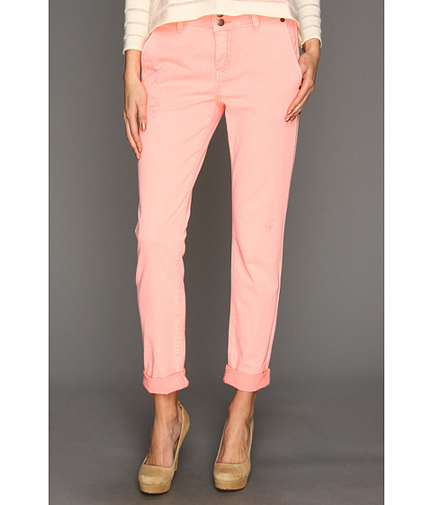 BCBGeneration - Johnny Destroyed Trouser Jean (Neon Pink) Women's Jeans