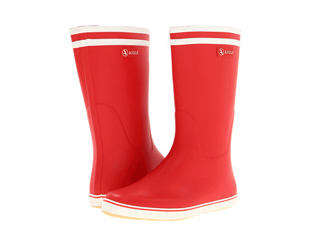 AIGLE - Malouine (Red/White) Women's Rain Boots