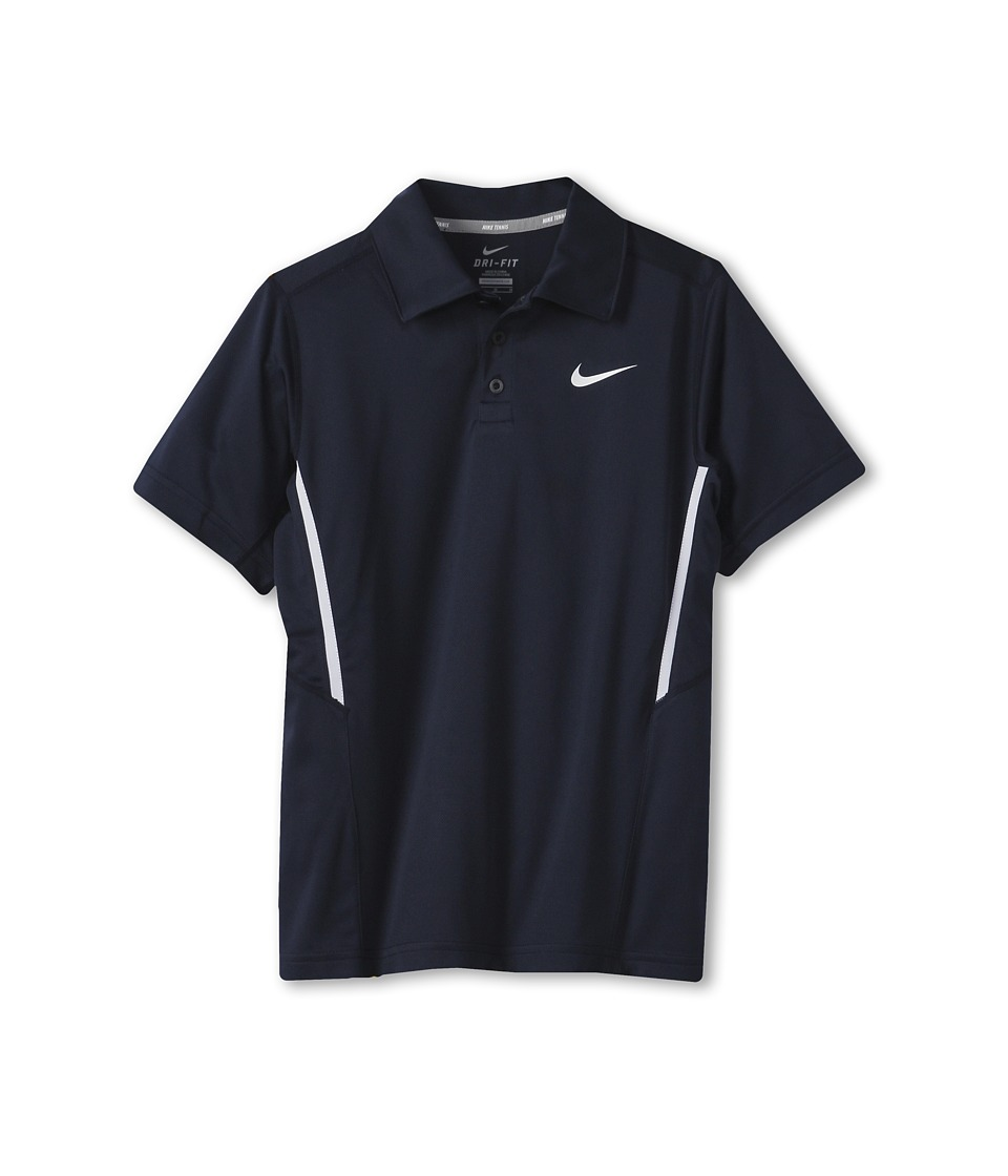 Nike Kids - N.E.T. UV S/S Polo (Little Kids/Big Kids) (Obsidian/White/White/White) Boy