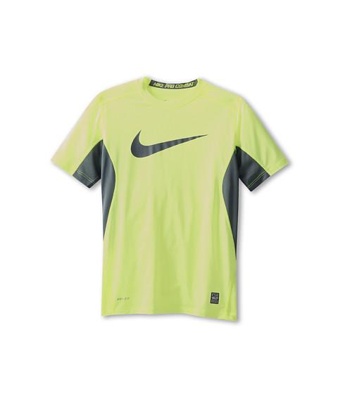 Nike Kids - NPC Core Fitted Swoosh Top (Little Kids/Big Kids) (Volt/Armory Slate/Armory Slate) Boy