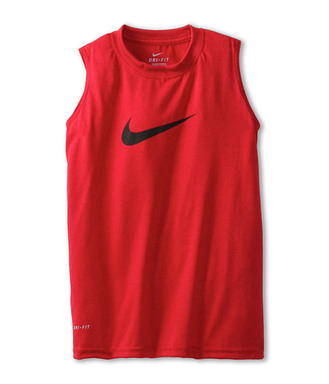 Nike Kids - Legend S/L Top (Little Kids/Big Kids) (Gym Red/Black) Boy
