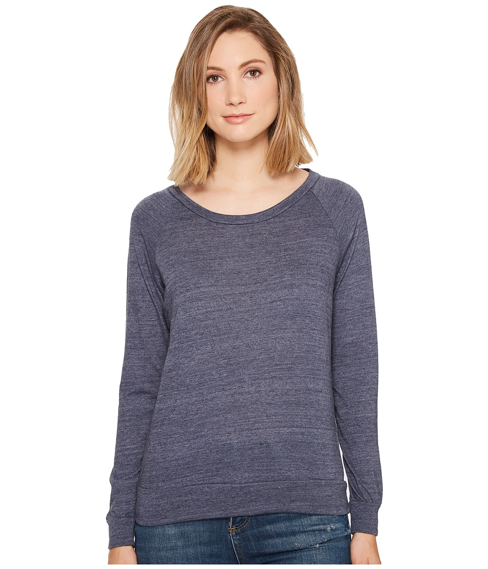 Alternative - Eco-Heather Slouchy Pullover (Eco True Navy) Women's Long Sleeve Pullover