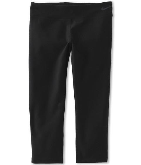 Nike Kids - Ya Legend Tight Capri (Little Kids/Big Kids) (Black/Black/Cool Grey) Girl's Capri