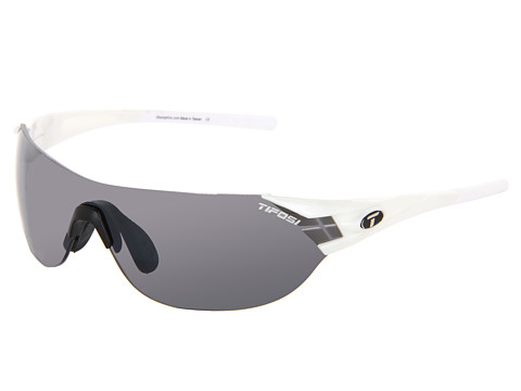 Tifosi Optics - Podium S Interchangeable (Pearl White/Smoke/AC Red/Clear Lens) Athletic Performance Sport Sunglasses