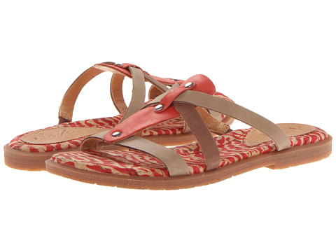 Naya - Zephyr (Capsicum/Nebbia Taupe/Coffee Bean Leather) Women's Sandals