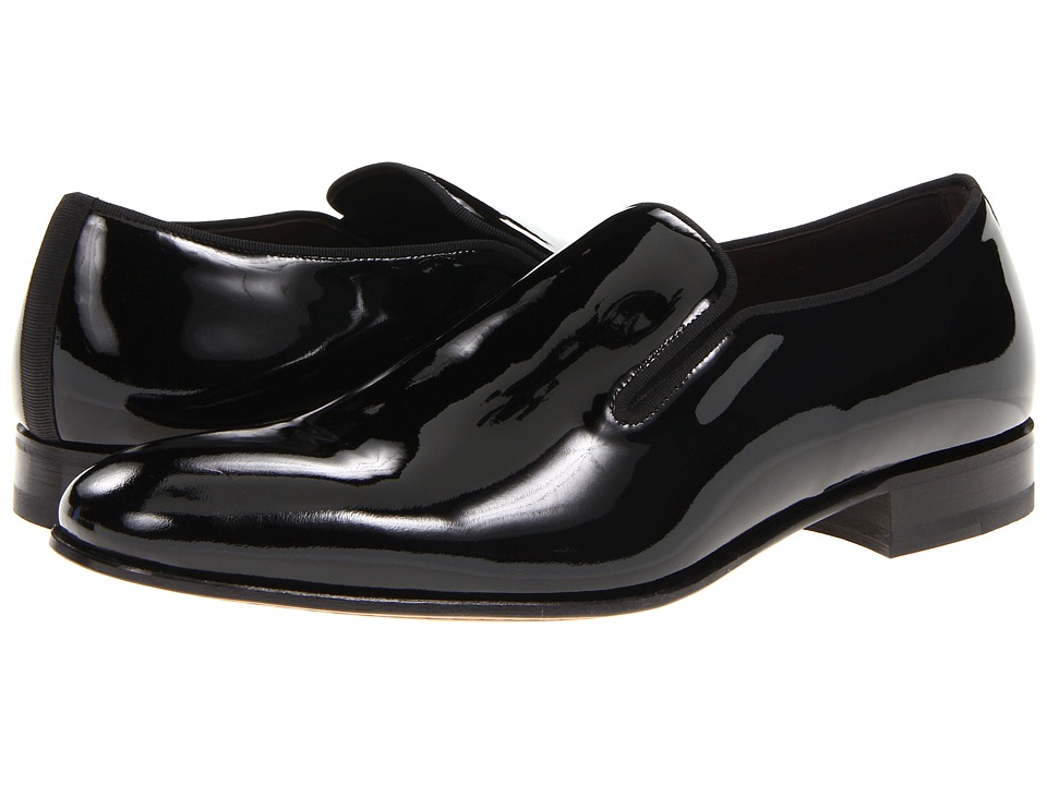 Mezlan - Jacobs (Black Patent) Men's Slip-on Dress Shoes