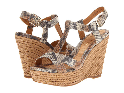 Sofft - Pedra (Beige Snake Print) Women's Wedge Shoes