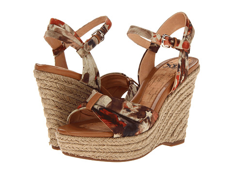 Sofft - Peggie (Luggage Multi Adelma Floral Fabric) Women's Wedge Shoes