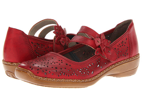 Rieker - 41372 Doris 72 (Red) Women's Shoes