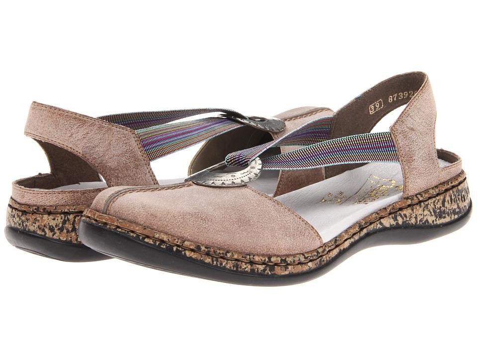 Rieker - 46362 Daisy 62 (Stone) Women's Slip on Shoes