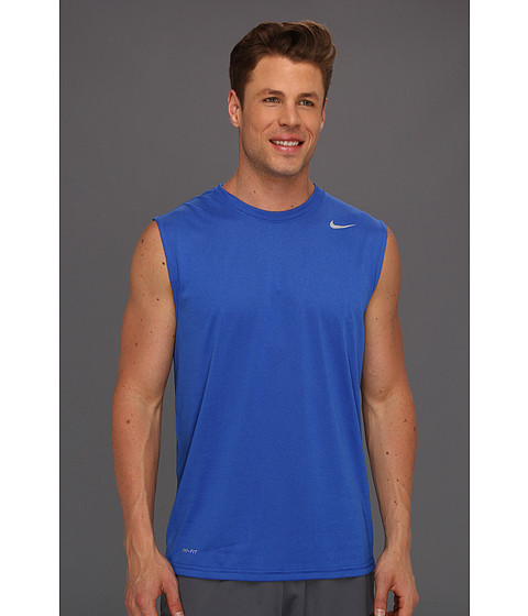 Nike - Dri-FIT Legend Sleeveless Training Shirt (Game Royal/Dark Grey Heather/Matte Silver) Men
