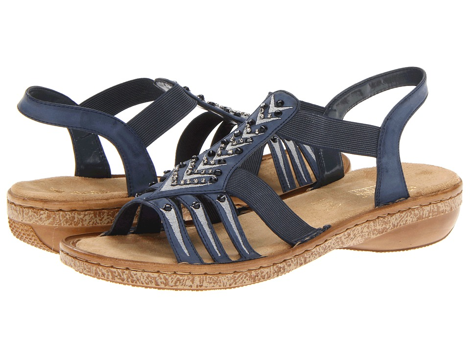 Rieker - 62861 Regina 61 (Jeans) Women's Sandals
