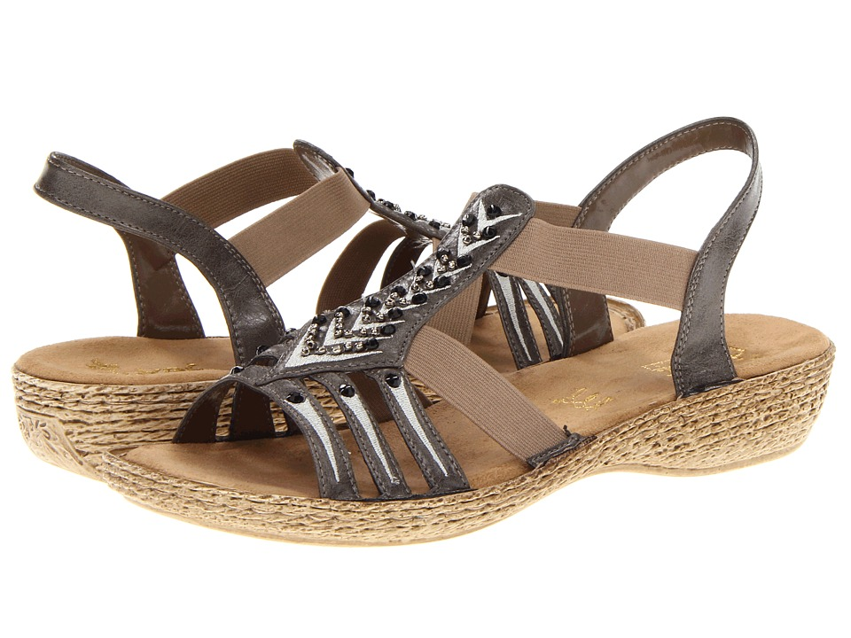 Rieker - 65861 Regina 61 (Smoke) Women's Sandals