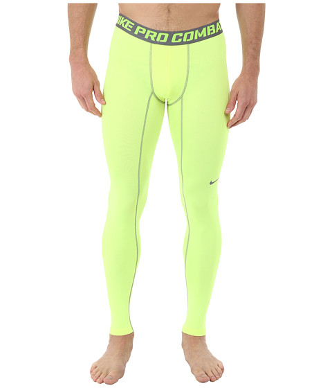 Nike - Core Compression Tight 2.0 (Volt/Cool Grey) Men's Workout