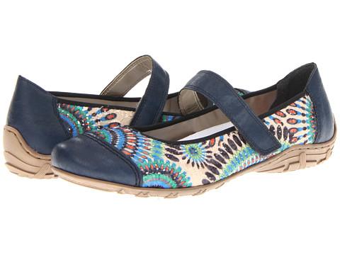 Rieker - L2072 Dorina 72 (Blue Multi) Women's Maryjane Shoes