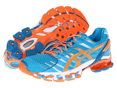 ASICS - GEL-Kinsei 4 (Island Blue/White/Flash Orange) Men's Running Shoes