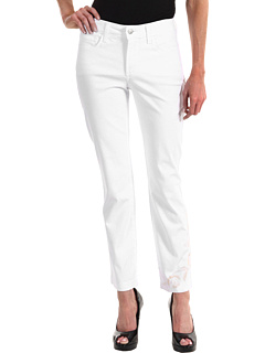 SALE! $42 - Save $78 on NYDJ Audrey Ankle w Leg Embroidery in Optic White Wash (Optic White Wash) Apparel - 65.00% OFF $120.00