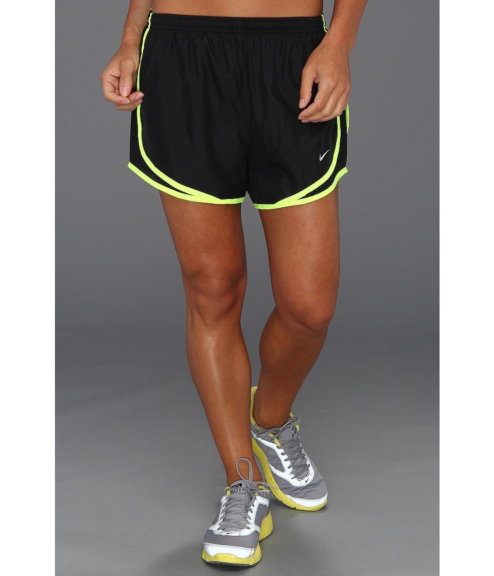 Nike - Dri-FIT Tempo Track 3.5 Short (Black/Black/Volt/Matte Silver) Women's Shorts