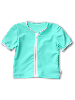 SALE! $11.99 - Save $35 on Seafolly Kids Cottage Garden Zip Front Rashie (Infant Toddler Little Kids) (Mint) Apparel - 74.49% OFF $47.00