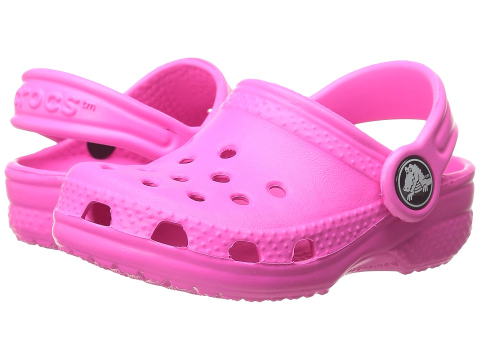 Crocs Kids - Classic (Infant/Toddler/Youth) (Neon Magenta) Kids Shoes