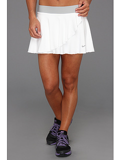 SALE! $34.99 - Save $25 on Nike Ruffle Knit Skirt (White Strata Grey Matte Silver) Apparel - 41.68% OFF $60.00